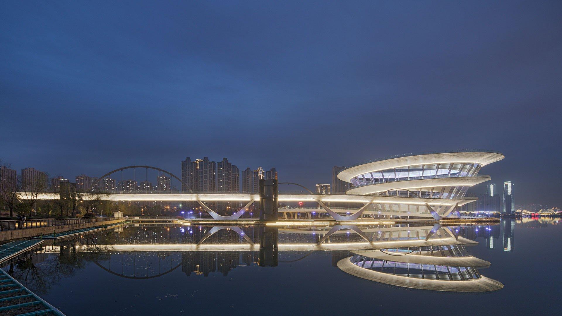 Meixi Urban Helix exterior night