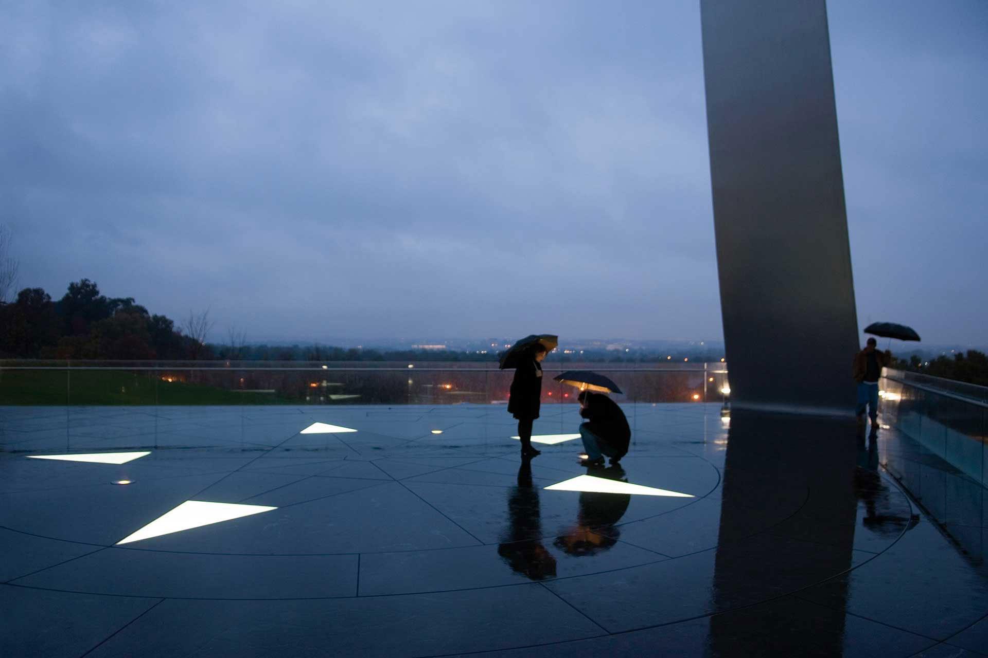 Air Force Memorial rainy night