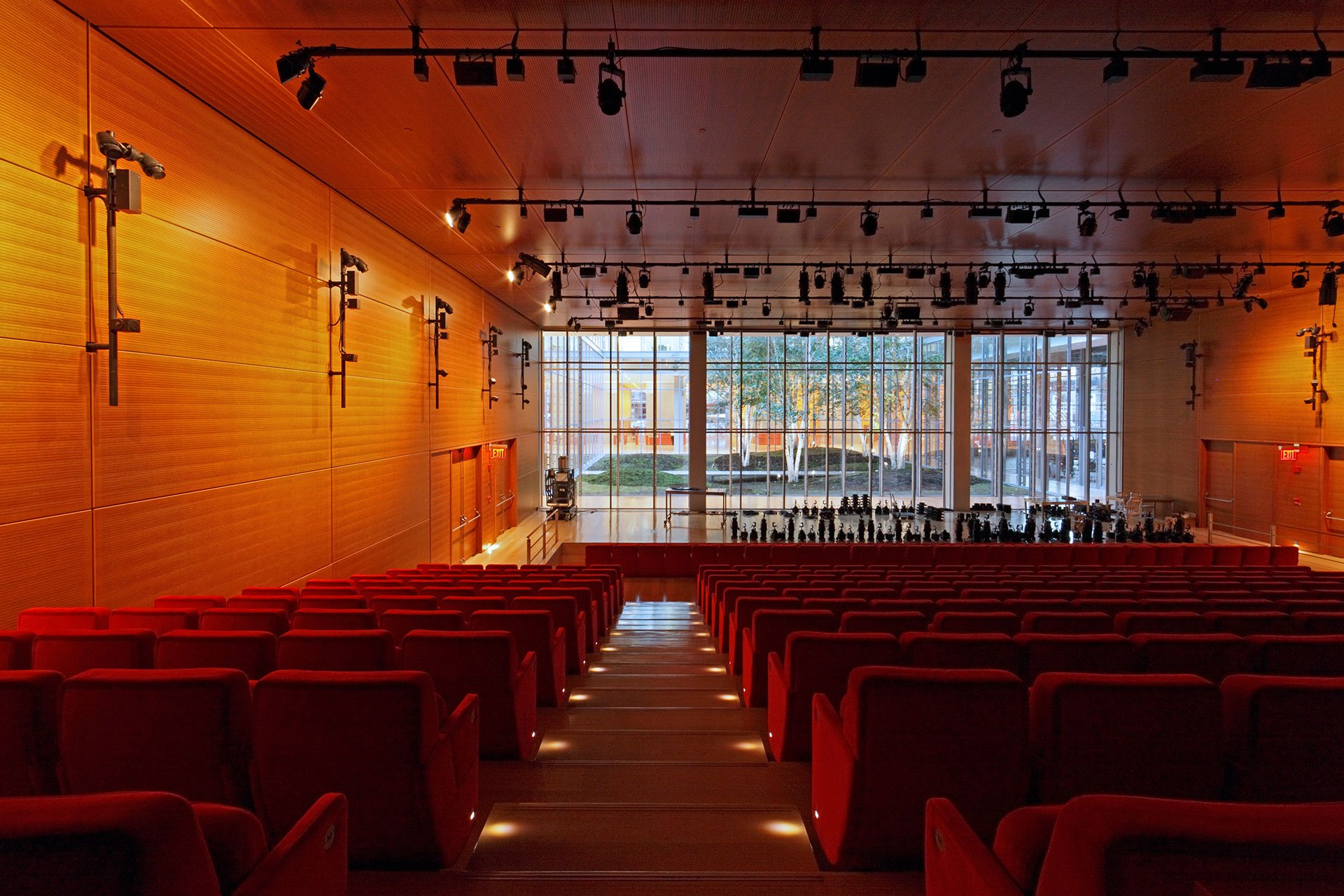New York Time auditorium OVI architectural lighting design