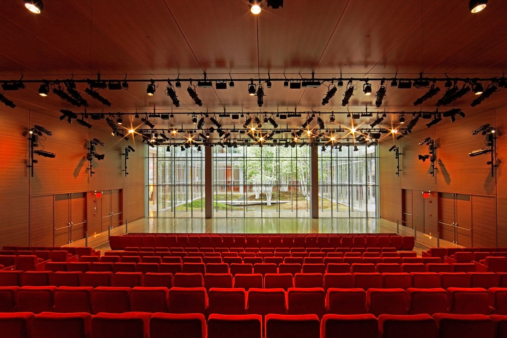 New York Time auditorium lighting OVI architectural lighting design
