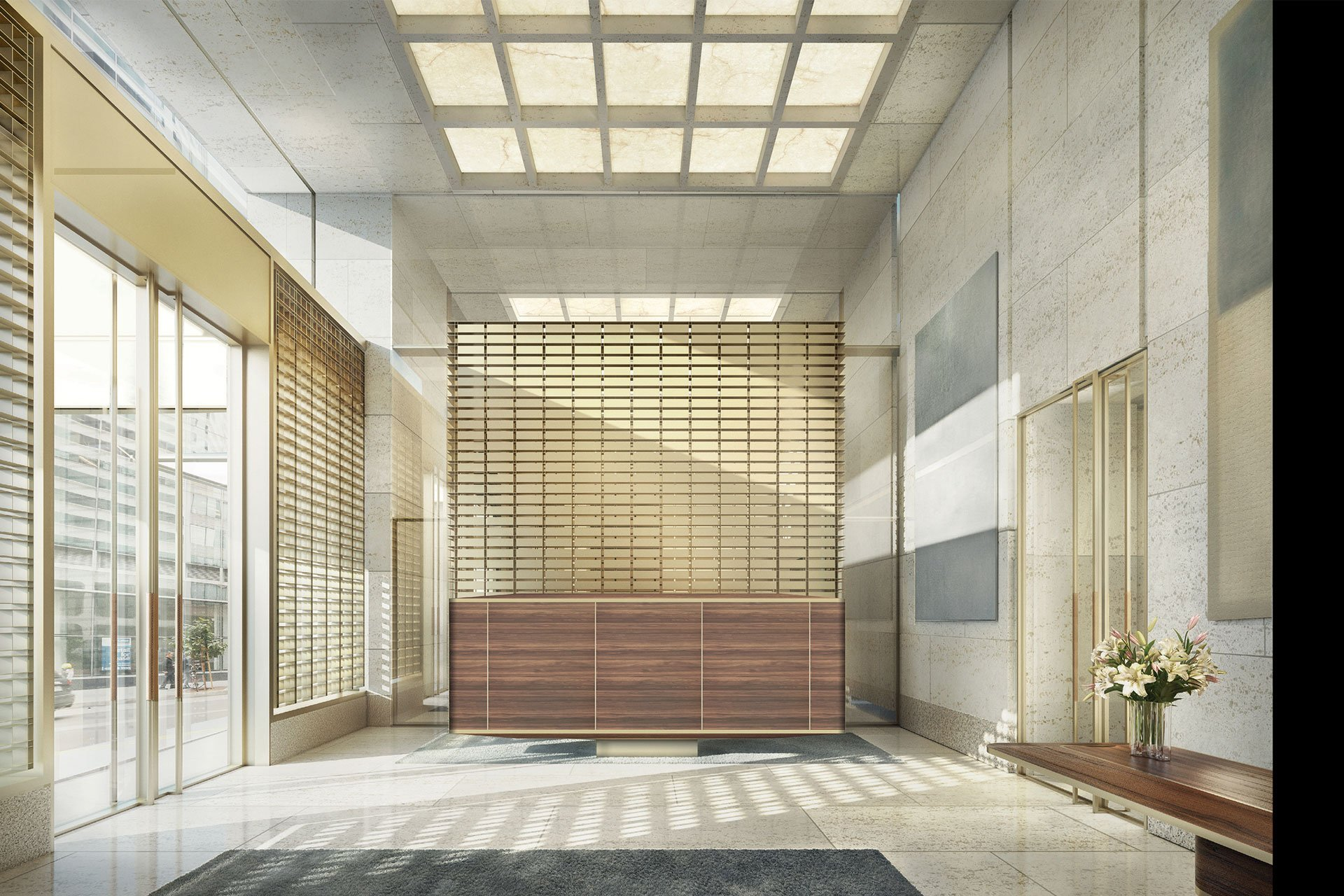 Oceanwide foyer OVI architectural lighting design