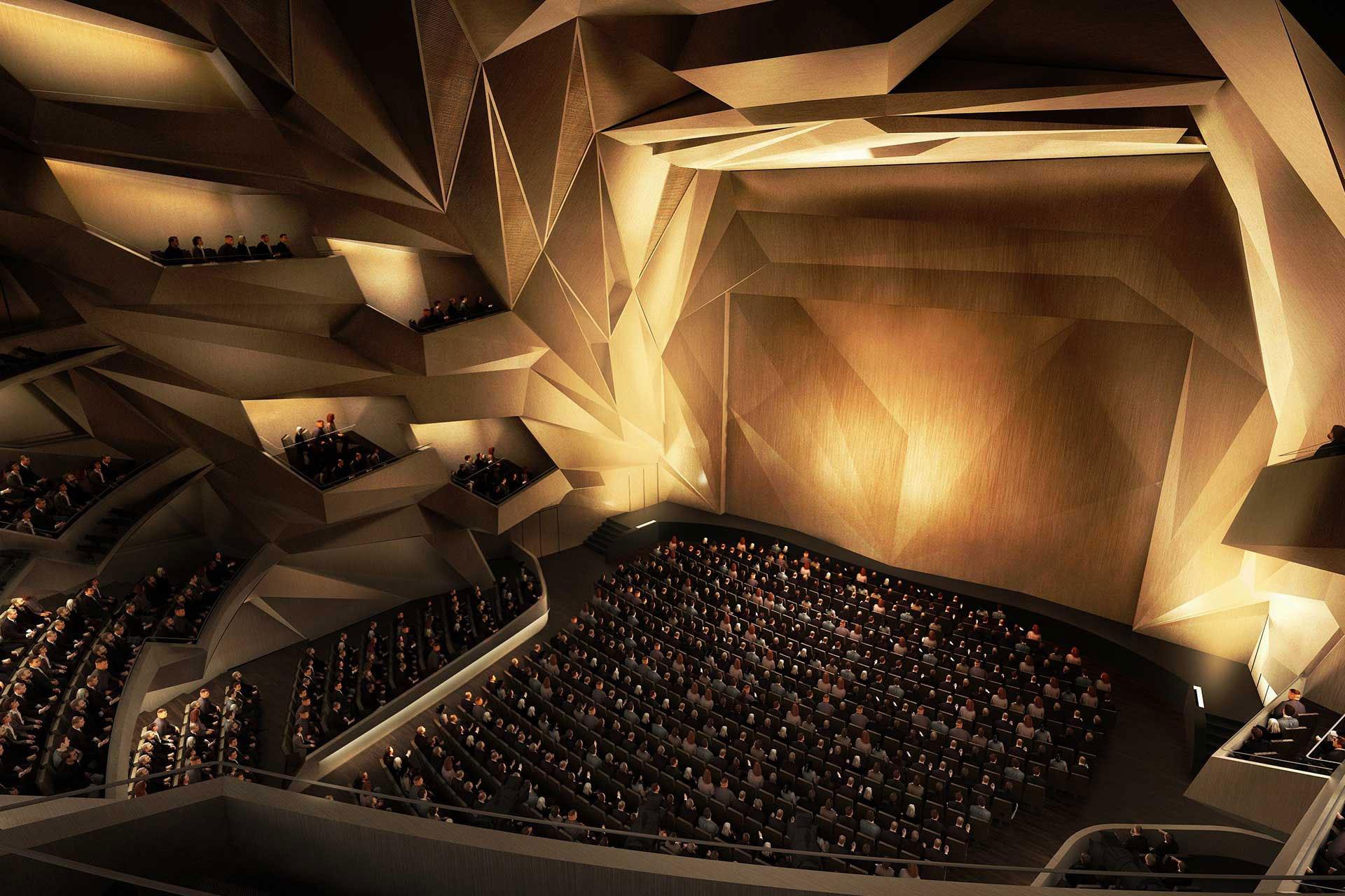 Rabat auditorium crowd