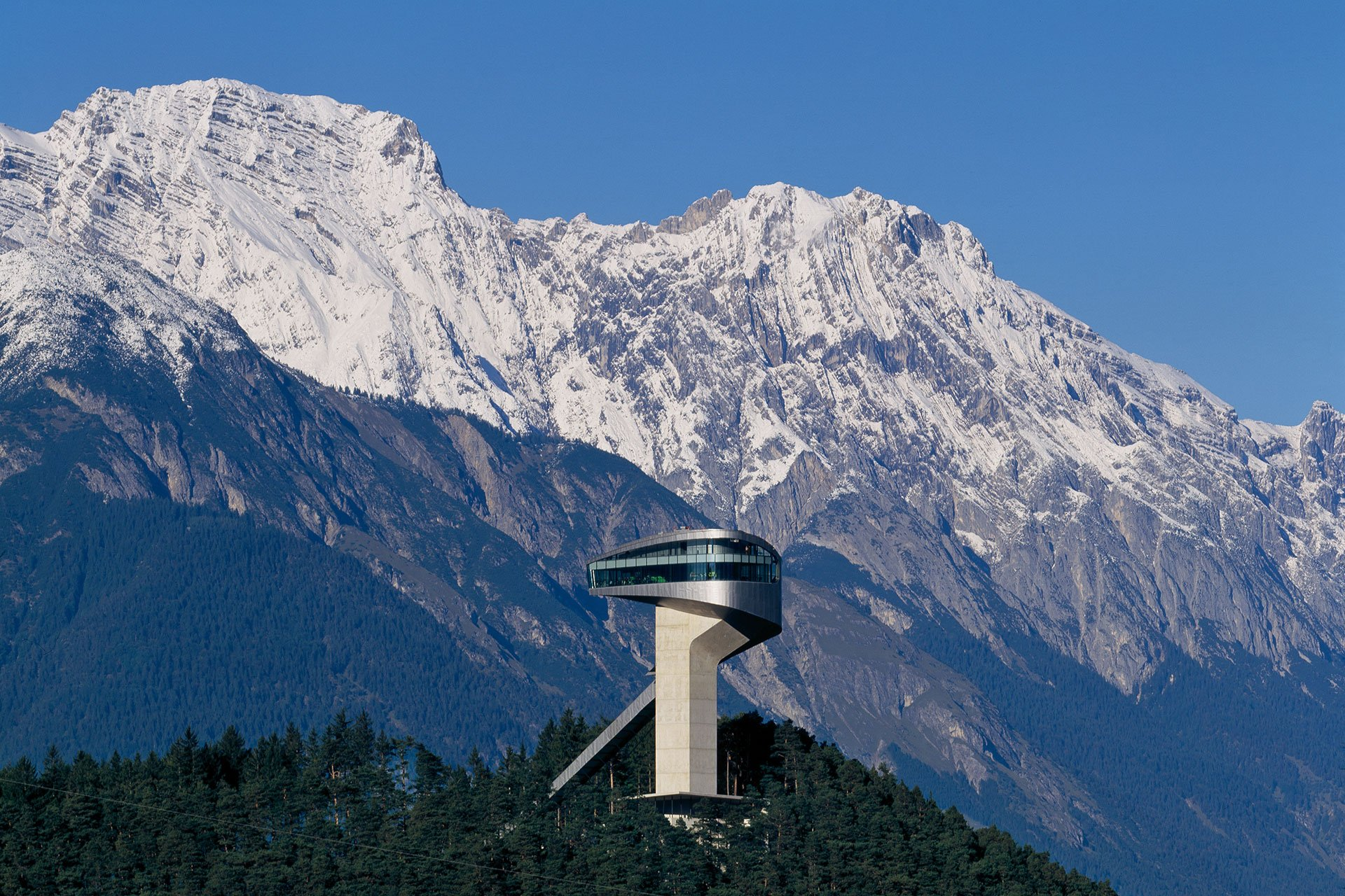 bergisel skijump austria architectural lighting design OVI Chinese