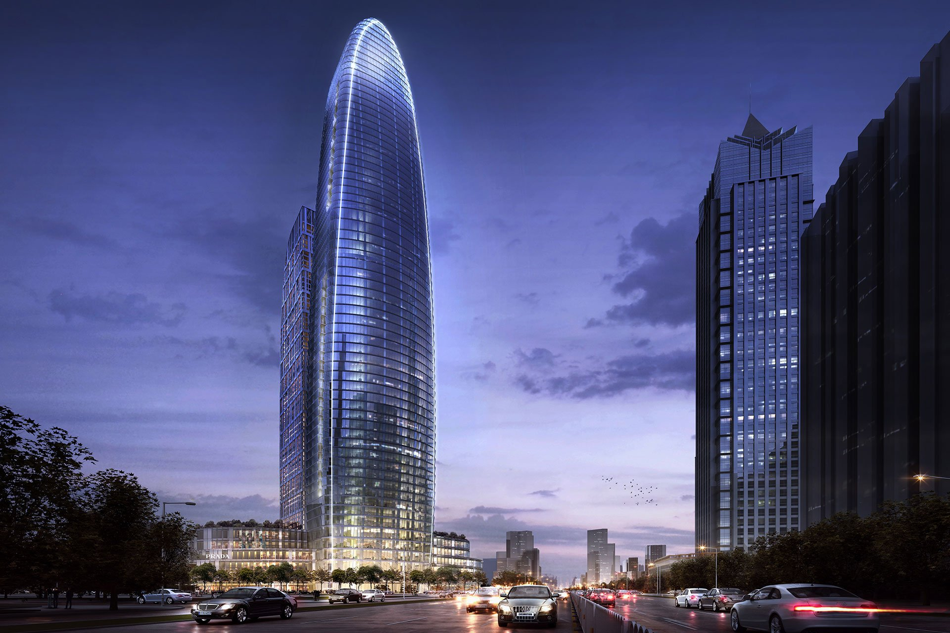 Suzhou China Tower architectural lighting design OVI Chinese
