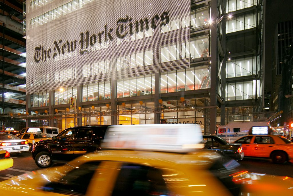 New York Times busy street