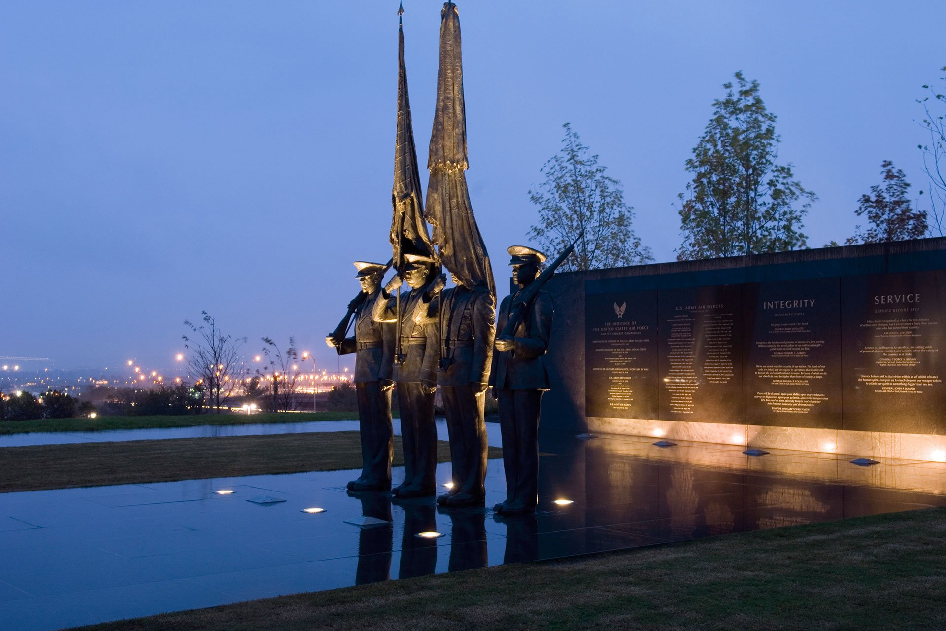 Air Force Memorial Virginia statues architectural lighting design OVI Chinese