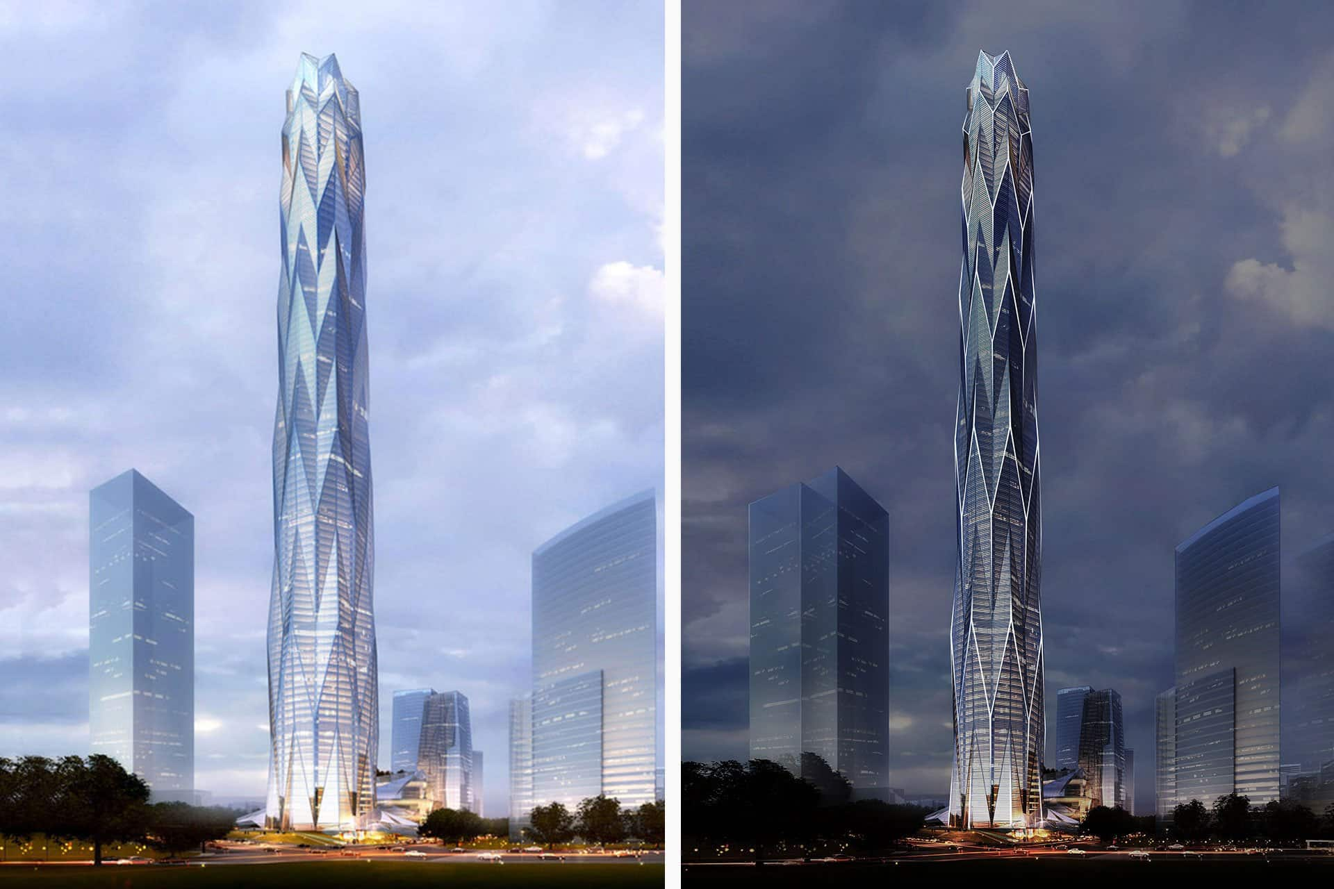 Chengdu Greenland Tower China architectural design lighting Office For Visual Interaction building image