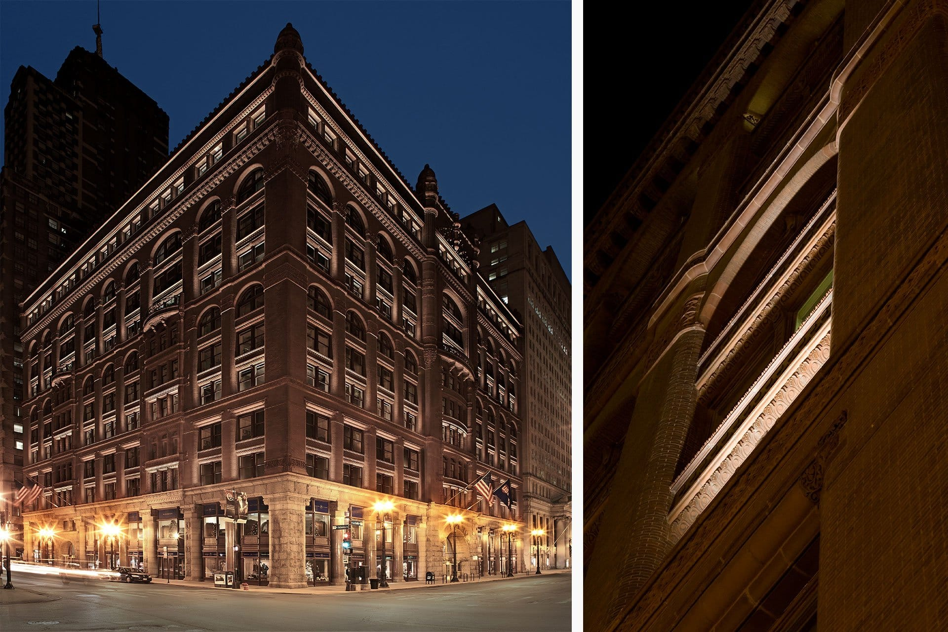 The Rookery exterior night architectural design lighting Office For Visual Interaction