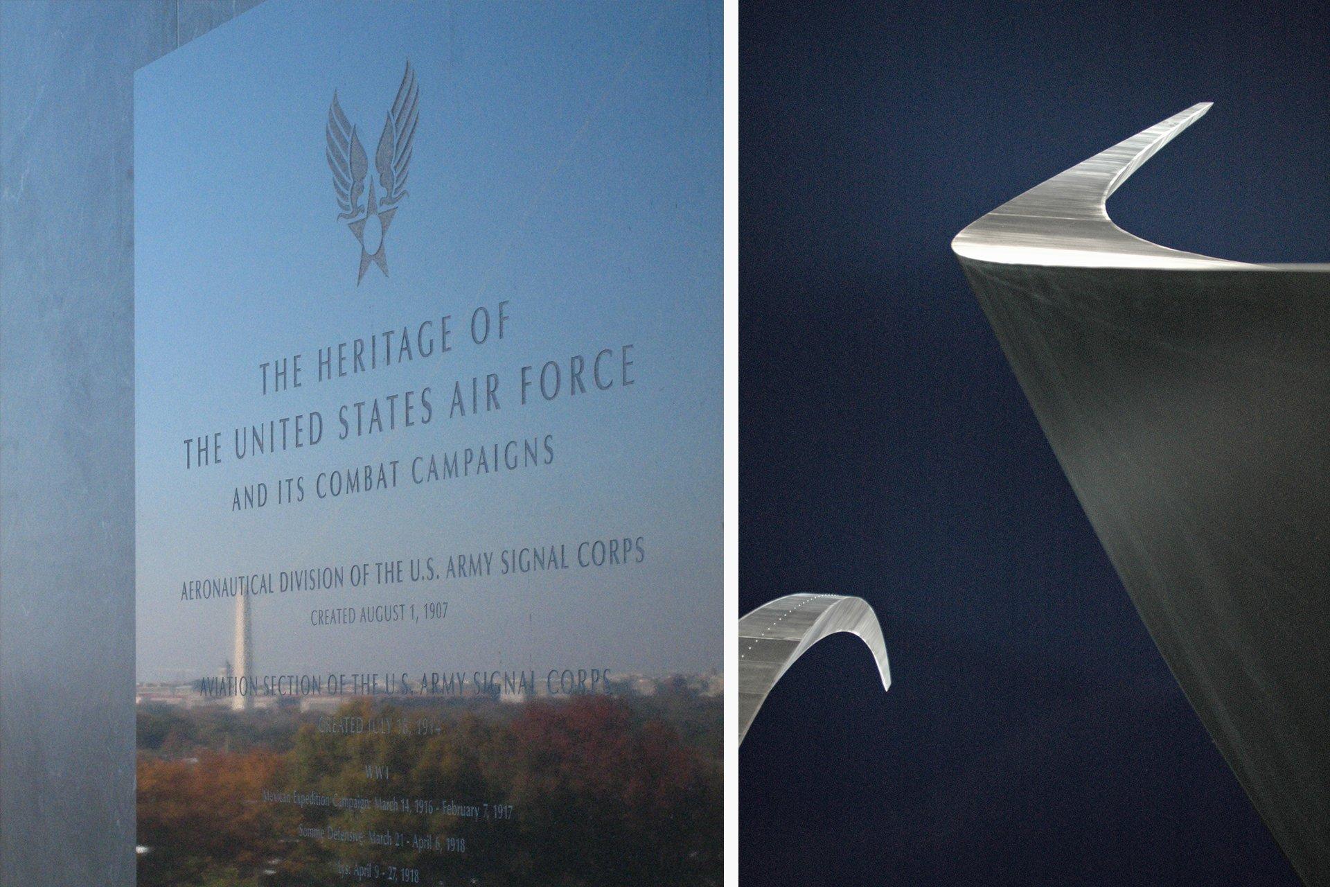 US Air Force Memorial Virginia architectural lighting design OVI