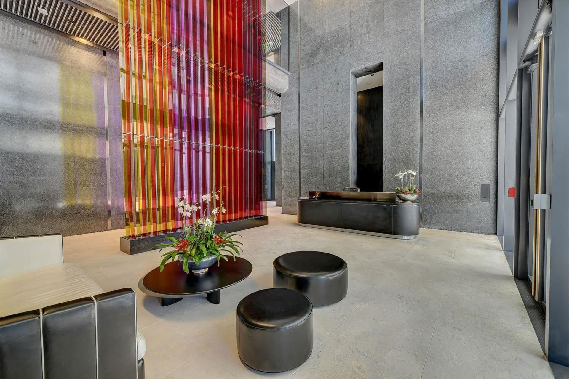 Saxony Residences Faena House entry architectural design lighting Office For Visual Interaction